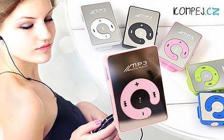 Zrcadlový MP3 přehrávač včetně sluchátek a napájecího kabelu. Poštovné v ceně!
