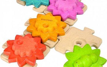 Plan Toys Ozubená kola a puzzle - standard