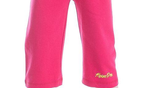ALPINE PRO Dívčí 3/4 kalhoty Akuo - růžové
