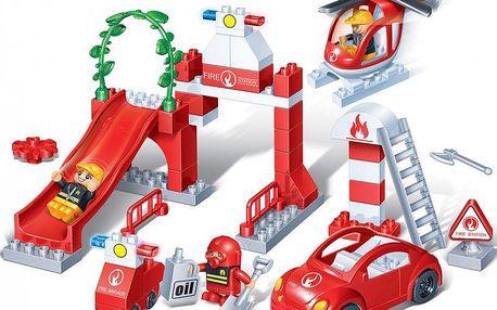 BanBao Stavebnice Fire Young Ones hasičská stanice