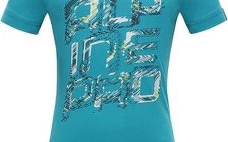 ALPINE PRO Dívčí funkční tričko Stygo 2- modré, 104-110 cm