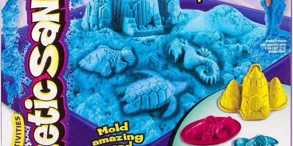 Kinetic Sand Box Sada nářadí + 454g modrá