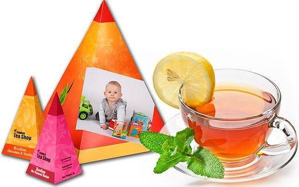 4 ks prémiového sypaného čaje v pyramidovém balení s vlastní fotografií i textem