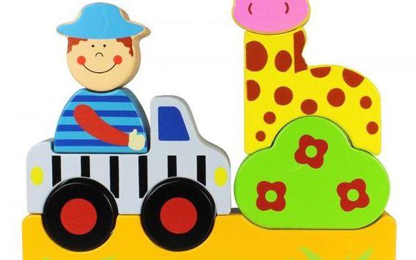 Marionette Magnetické puzzle zoo, dřevěné