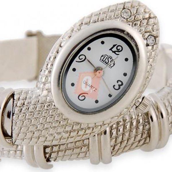 Hadí hodinky - stříbrná barva - dodání do 2 dnů