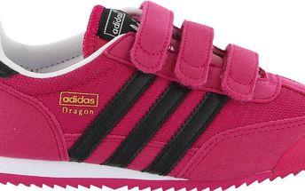 Adidas Dívčí tenisky DRAGON J - růžové