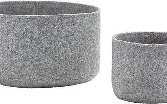 Sada 2 plstěných košíků Zone Grey