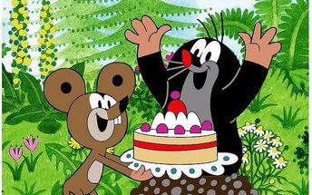 Jerry Fabrics dětská deka Krteček s myškou oslava 120 x 150 cm