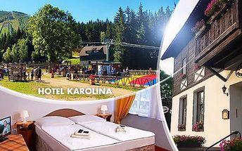 Letní Krkonoše - Harrachov: 4 dny pro dva s polopenzí, bazénem a slevou na wellness
