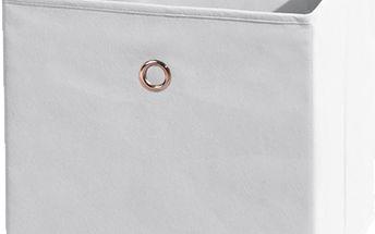 Textilní box Winny, bílý