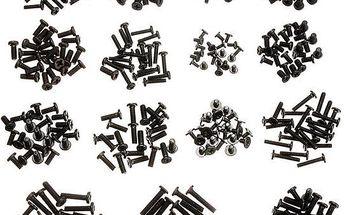 300 kusů černých šroubků na notebook či laptop