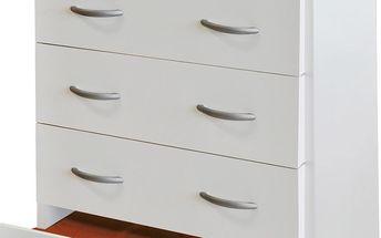 Prádelník se čtyřmi širokými zásuvkami 2982, bílý
