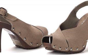 s.Oliver dámské kožené sandály 38 šedá