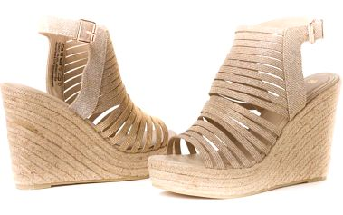 s.Oliver dámské sandály na klínku 36 zlatá