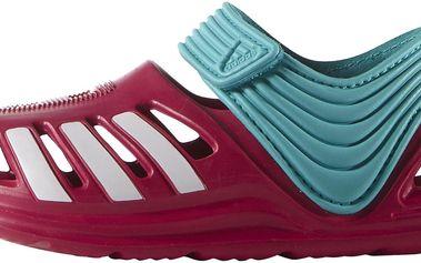Adidas Dětské sandály Zdandal - červeno-zelené