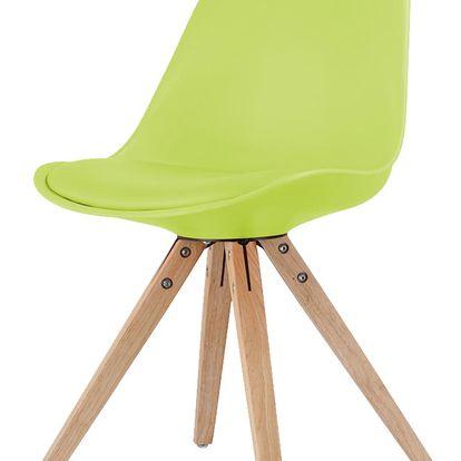 Jídelní židle LADY zelená