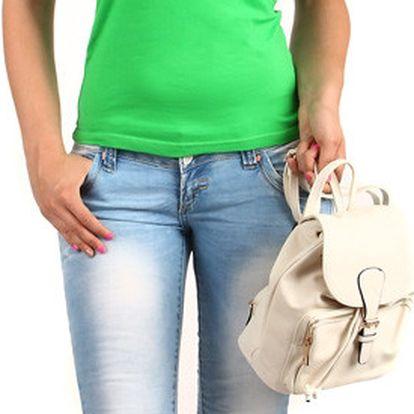 Zajímavé tričko s krajkovými rukávy tmavě zelená