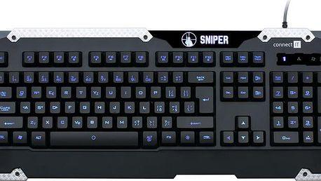 Connect IT Sniper, černá - CI-233