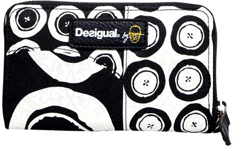 Desigual Peněženka Mini Zip Black and White Negro 56Y5LA0 2000