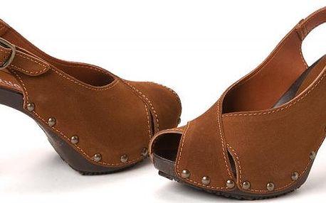 s.Oliver dámské kožené sandály 39 hnědá