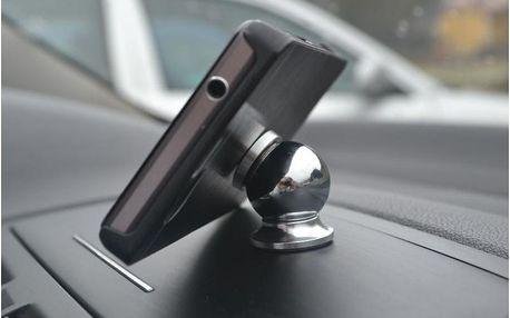 Magnetický držák mobilů, stříbrno-černá varianta, příslušenství.