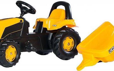 Rolly Toys Šlapací traktor Rolly Kid JCB s vlečkou žlutý