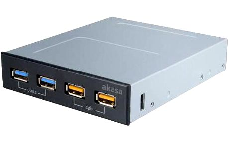 """Akasa AK-ICR-25, přední panel 3,5"""", USB"""