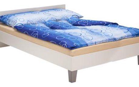 Manželská postel 180x200 PETRA 1527 bílá Idea