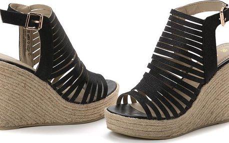 s.Oliver dámské sandály na klínku 39 černá