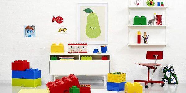 LEGO® Úložný box 125x250x180 mm červená