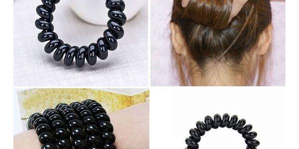 Fashion Icon Sada vlasové gumičky černé matné 3 ks