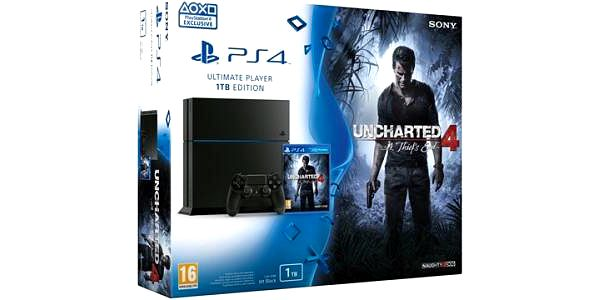 Sony 1TB + Uncharted 4: A Thiefs End (PS719802655)