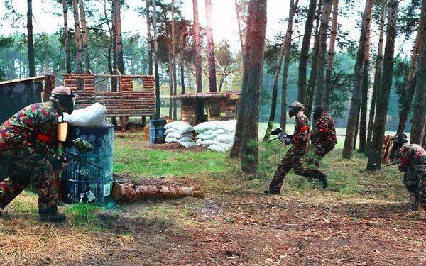 Venkovní paintballová střílečka se 100 kuličkami