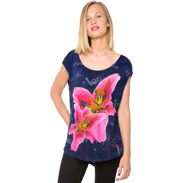 Desigual Dámský top Vinek Navy 61T26C0 5000 S