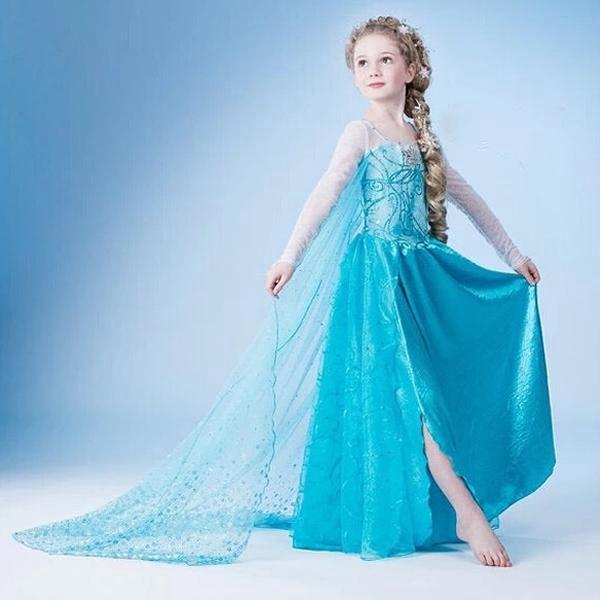 Dětský kostým, šaty princezny Elsy a Anny z Ledového království, staň se i ty opravdovou princeznou.