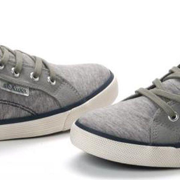 s.Oliver pánská kotníčková obuv 44 šedá