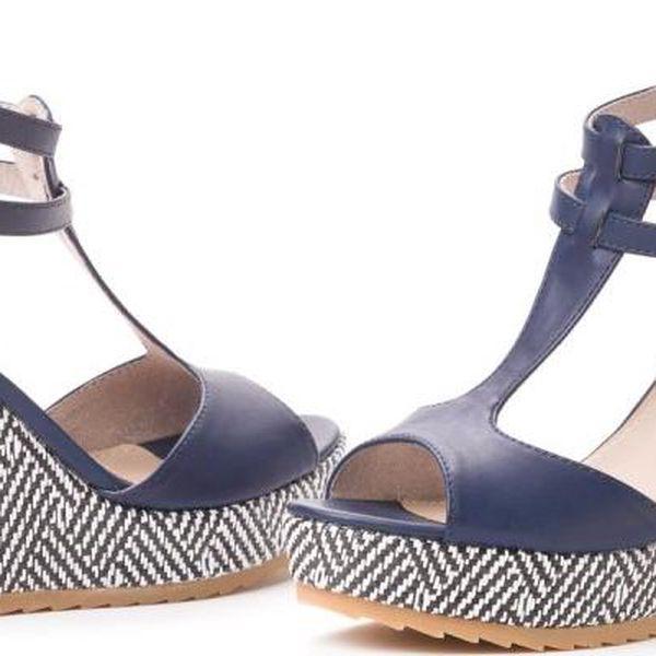 s.Oliver dámské sandály na klínu 36 tmavě modrá