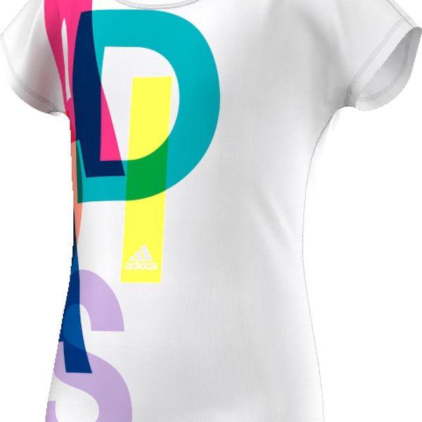 Adidas Dívčí tričko WARDROBE FITNESS LOGO TEE AK2054