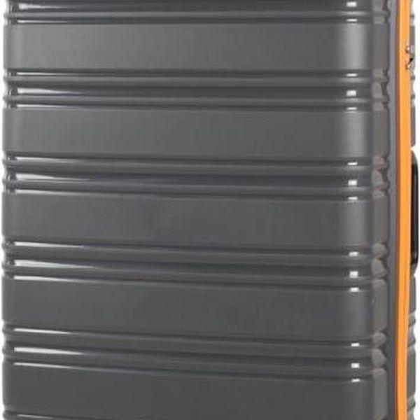 REAbags Cestovní kufr ROCK TR-0125/3-60 PP šedá
