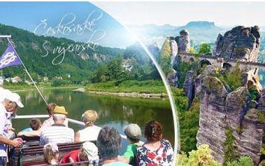Českosaské Švýcarsko! 1denní výlet lodí za krásami skalních měst pro 1 osobu vč. lodních lístků. Termín: 25.6.2016.