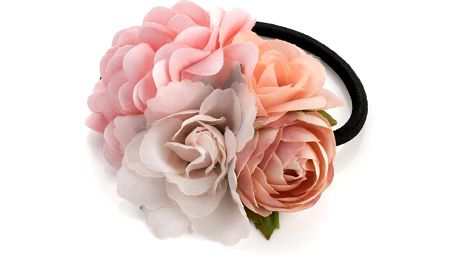 Růžová gumička do vlasů Sisi 29977