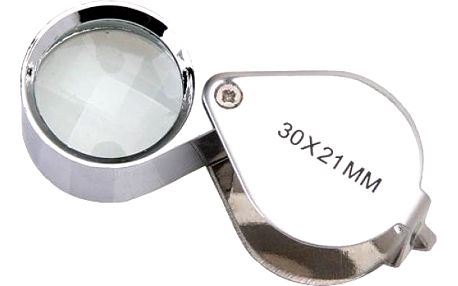 Mini kapesní lupa 30 x 21 mm - dodání do 2 dnů