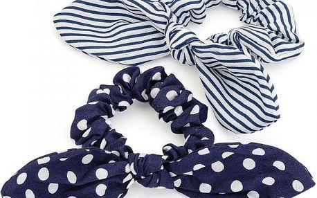 Dvě modré gumičky do vlasů 29440