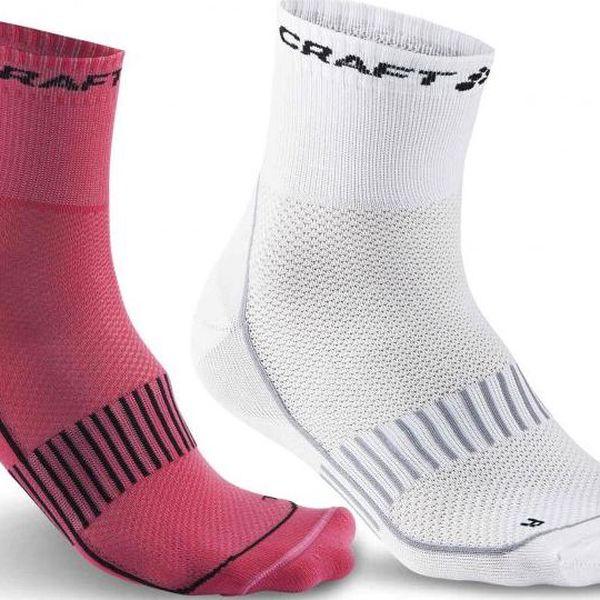 Craft Ponožky Training 2-pack Růžová 37-39