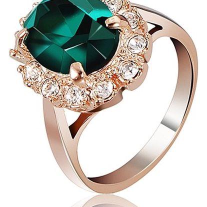 Elegantní prsten s velkým kamenem - ve 3 barvách