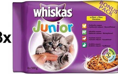 Whiskas JUNIOR ve šťávě BONUS 13 x (4 x 100g)
