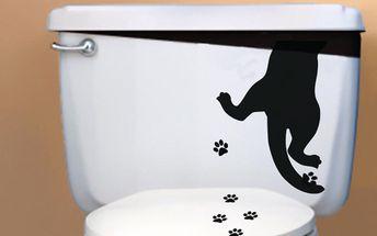 Ambiance Nástěnná samolepka Kočičí stopy