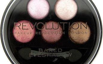 Makeup Revolution Kulatá paletka 5 zapečených očních stínů (5 Baked Eyeshadows) Chocolate Deluxe