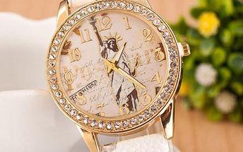 Dámské hodinky s motivem sochy Svobody