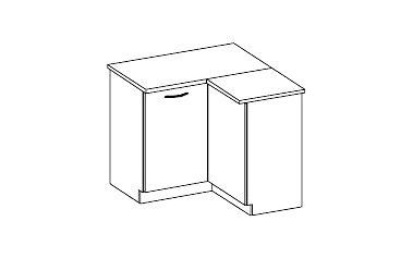 Spodní rohová skříňka KAMELIA